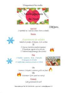 menu du Midi noel 2019